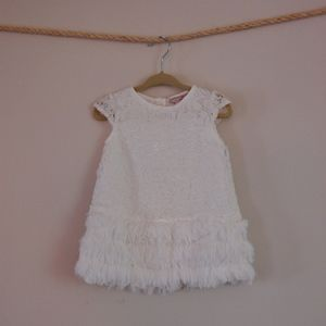 Other - Little Girls White Lace Dress with Fringe (18mths)